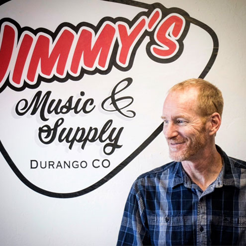 Jim Gillaspy Music Store Owner